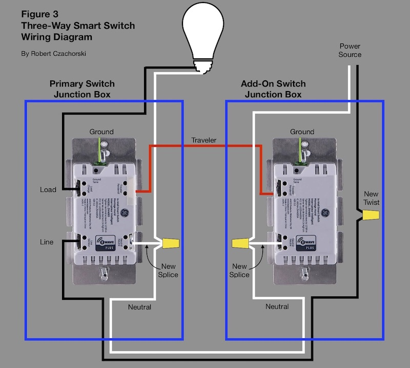 Three-way smart switch wiring diagram - H2OmetricsH2Ometrics